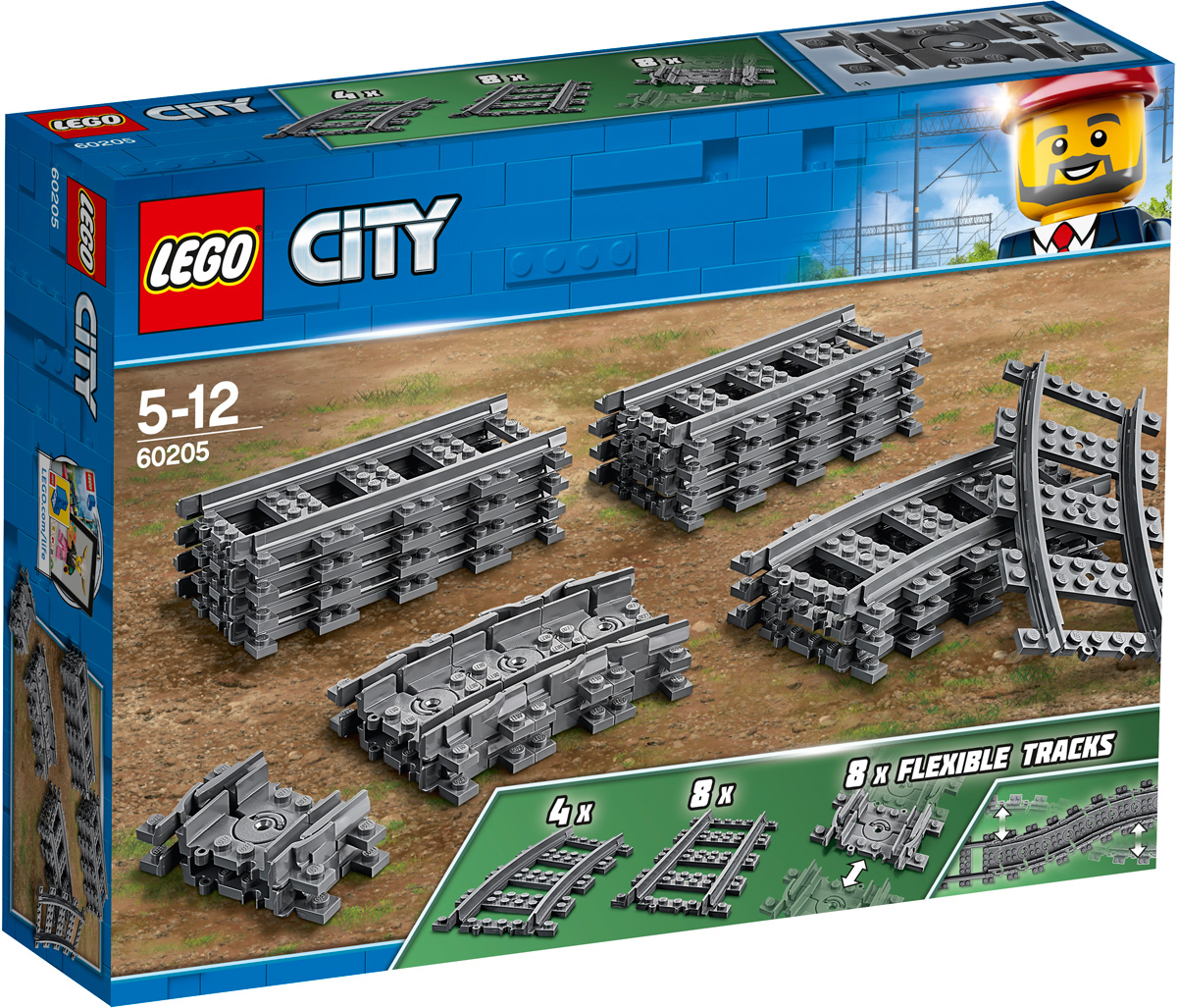 LEGO City Trains Конструктор Рельсы 60205 sluban model building kits compatible with lego city fire 771 3d blocks educational model