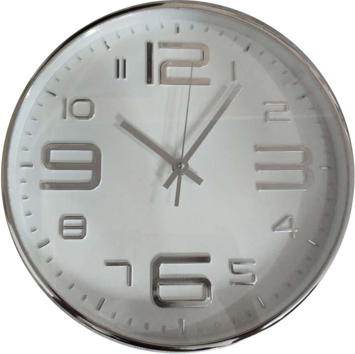 Часы настенные Innova, цвет: серебристый, белый, диаметр 30 см. W09642 часы настенные innova w09656 цвет белый диаметр 35 см