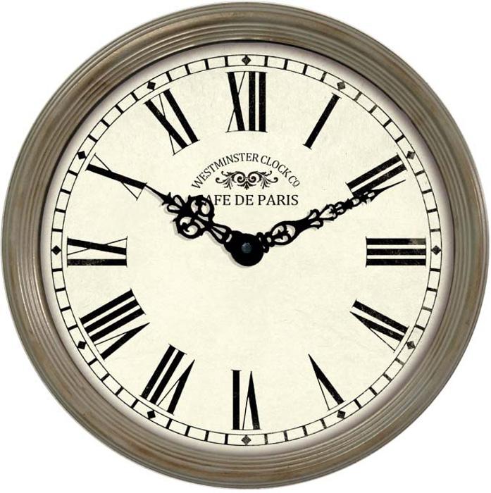 Часы настенные Innova, цвет: бежевый, диаметр 38 см. W09647 часы настенные innova w09656 цвет белый диаметр 35 см