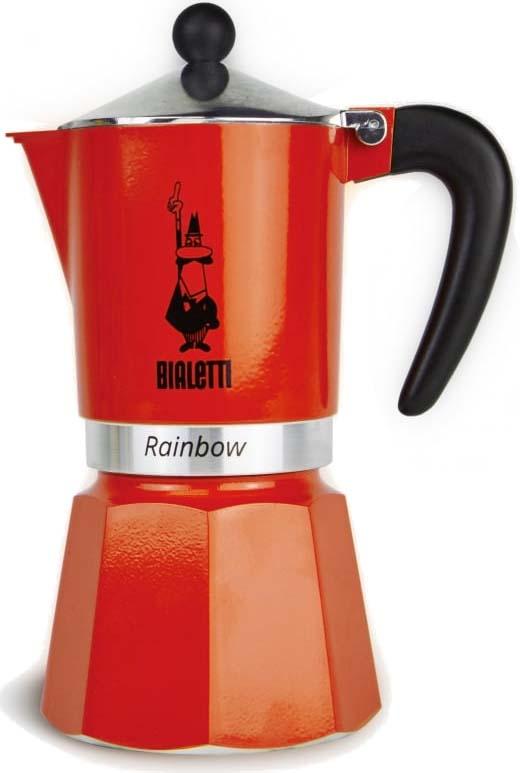 Кофеварка гейзерная Bialetti Rainbow, цвет: красный, на 6 чашек