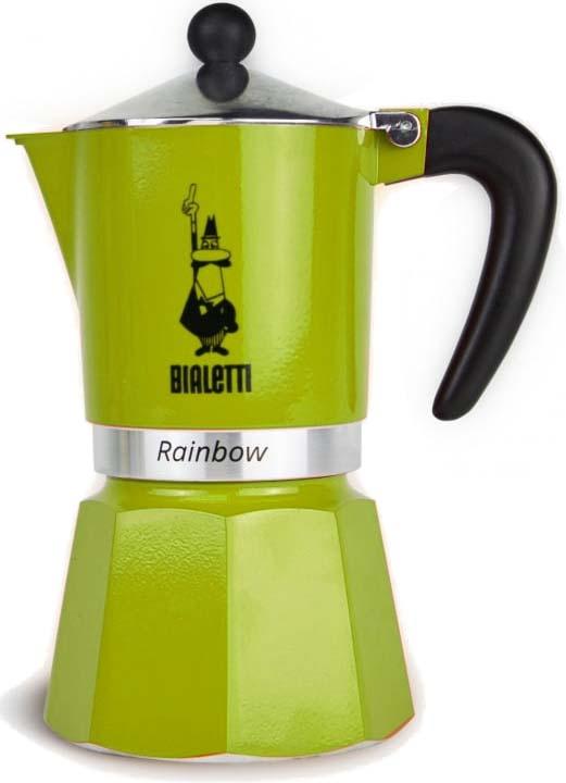 Кофеварка гейзерная Bialetti Rainbow, цвет: зеленый, на 3 чашки