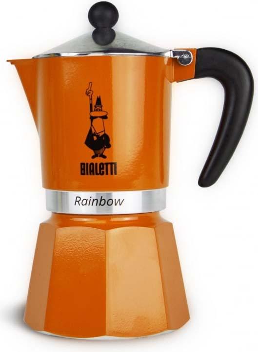Кофеварка гейзерная Bialetti Rainbow, цвет: оранжевый, на 3 чашки bialetti