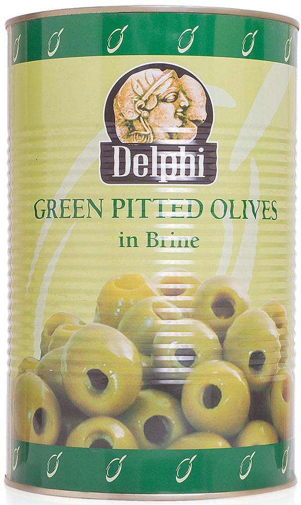 Delphi Оливки без косточек в рассоле Atlas, 4,25 кг delphi оливки фаршированные пастой из перца в рассоле 350 г