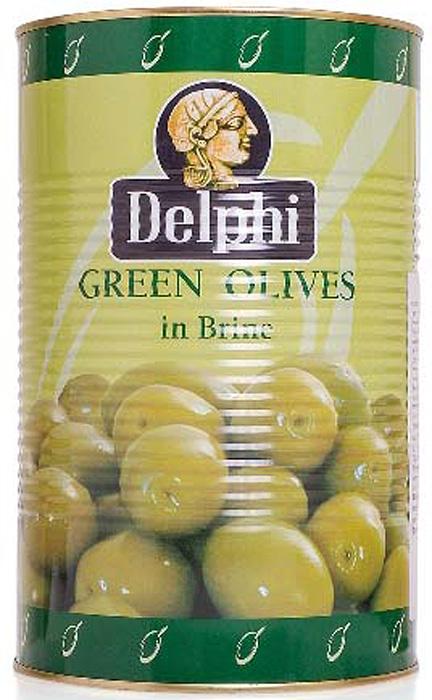 Delphi Оливки с косточкой в рассоле Atlas, 4,25 кг оливки чёрные pikarome резаные в рассоле 4 2 кг