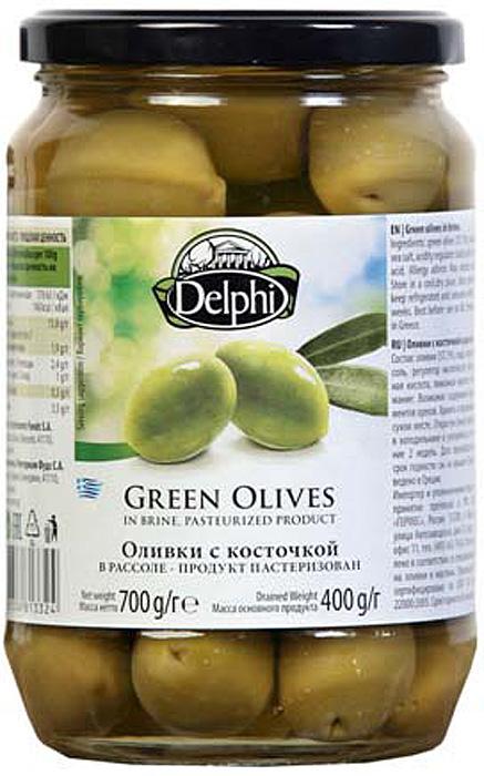 Delphi Оливки с косточкой рассоле, 700 г delphi оливки с косточкой в рассоле super mammouth 91 100 820 г