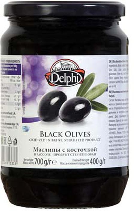Delphi Маслины с косточкой в рассоле, 700 г delphi маслины без косточки в рассоле colossal 121 140 820 г