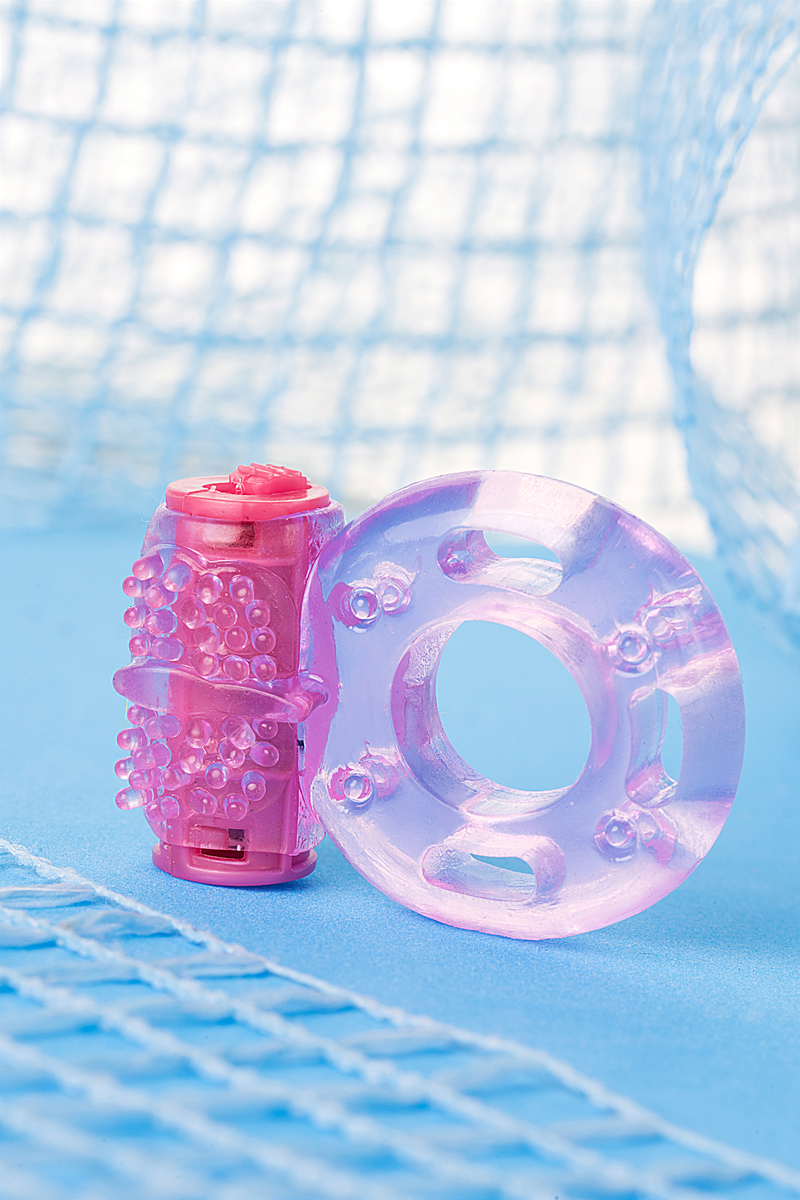 ToyfaВиброкольцо, гелевое, розовое, диаметр 1,7 см.  818040-3 Toyfa