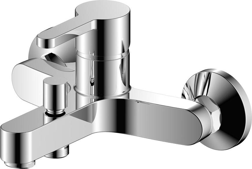 Однозахватный современный смеситель для ванны.Латунный корпус из высококачественного сплава HQ Brass (содержание меди не менее 60%, толщина стенок корпуса более 2мм) и двухслойное никель-хромовое покрытие Liquid Diamond — позволяют увеличить срок службы изделия до 25 лет.Характеристики:Гарантия 7 лет на корпус, покрытие и картридж смесителя.Керамический картридж 35 ммПластиковый аэратор увеличенной проходимости позволяет быстро наполнить ванну.Хромированный шланг 1,5м с системой Double Lock (двойное сцепление звеньев оплётки обеспечивает прочность шланга от разрыва) и No Twist (защита шланга от перекручивания)Поворотный держатель лейкиДушевая лейка Touch Clean (3 режима)Комплект крепления
