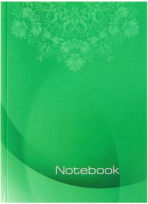 Бриз Блокнот 80 листов в клетку цвет зеленый