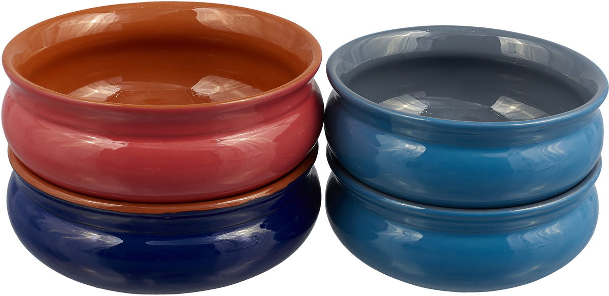 """Набор тарелок Борисовская керамика """"Скифская"""", 4 шт цвет: синий, красный, голубой"""