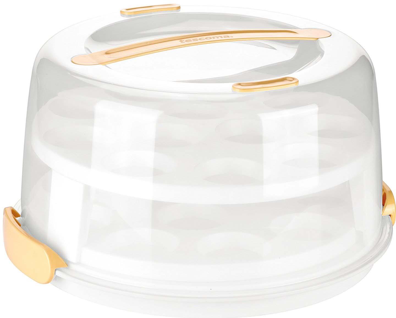 Прекрасно подходит для переноса и подачи маффинов. Двухэтажную подставку под 24 маффина можно снимать. Поднос без подставки можно использовать для переноса тортов, десертов, канапе, бутербродов, фруктов и т. д. Поднос с крышкой можно также использовать с отдельно поставляемой охлаждающей частью DELICIA (арт. 630846, с просьбой поставки обращайтесь к дилеру). Благодаря ей блюда более длительное время останутся охлажденными и свежими. Изготовлено из высококачественного прочного пластика. Можно мыть в посудомоечной машине.