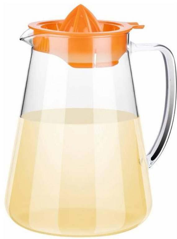 Цвета в ассортименте: желтый, красный, оранжевый, зеленый. Отлично подходит для приготовления и подачи горячих и холодных напитков. С соковыжималкой для легкого выжимания лаймов, лимонов, апельсинов и небольших грейпфрутов прямо в кувшин. Кувшин изготовлен из огнеупорного боросиликатного стекла, подходит для газовых, электрических и стеклокерамических плит, соковыжималка изготовлена из прочного пластика. Подходит для мытья в посудомоечной машине.