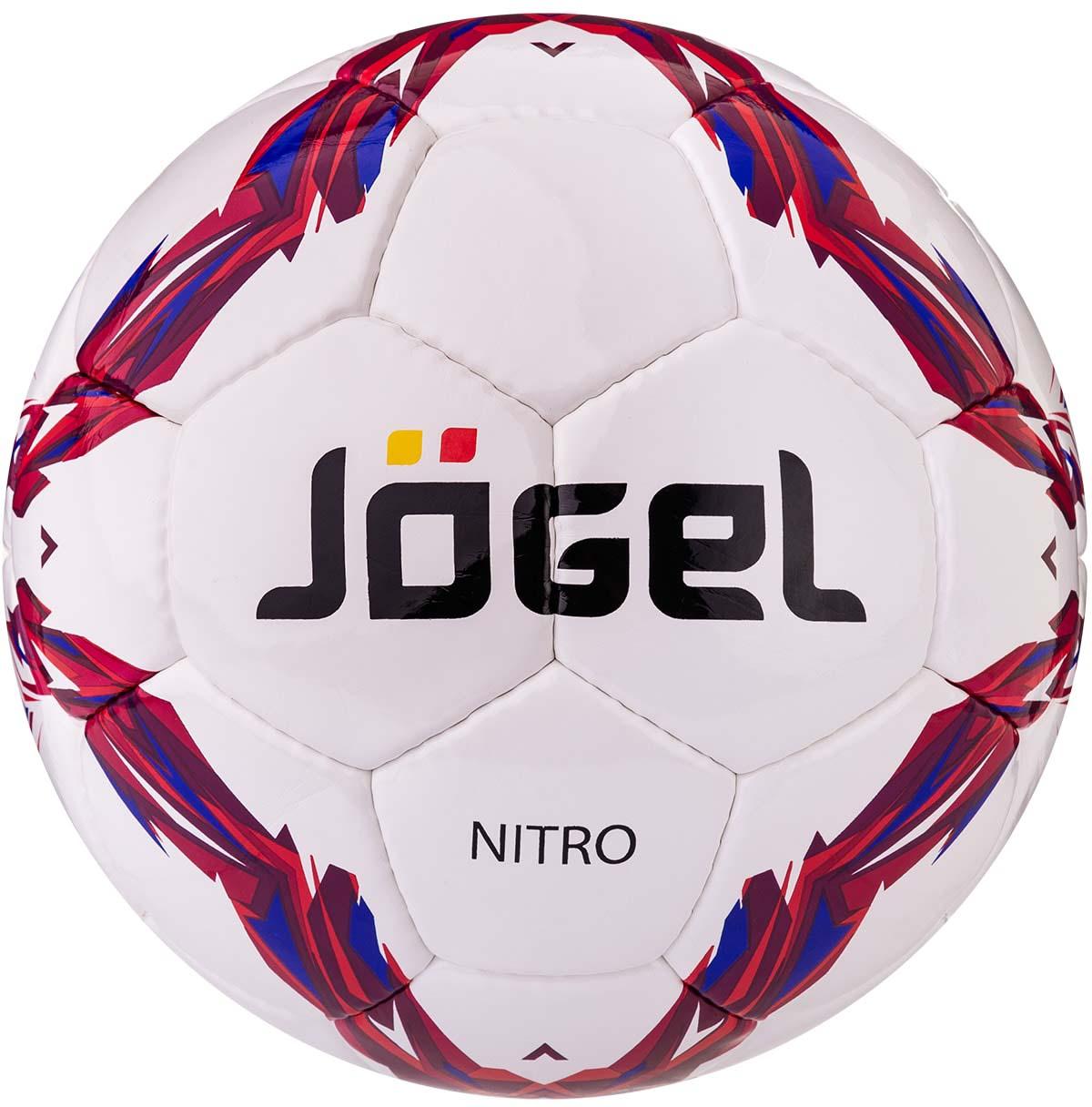 Категория: Тренировочный мяч  Коллекция: 2018/2020  Описание: Jogel JS-710 Nitro - это второе поколение модели Nitro, но уже в новом дизайне. Мы применили в нем еще более качественный материал верха, а также улучшили качество швов и ниток. Теперь это практически идеальный мяч тренировочного уровня. Размер №4 предназначается для тренировок детей в возрасте от 8 до 12 лет. Данный мяч рекомендован для тренировок и тренировочных игр клубных и любительских команд. Поверхность мяча выполнена из глянцевой синтетической кожи (полиуретан) толщиной 1,2 мм. Мяч имеет 4 подкладочных слоя на нетканой основе (смесь хлопка с полиэстером) и оснащен бутиловой камерой, обеспечивающим долгое сохранение воздуха в камере.    Традиционная конструкция мяча из 32 панелей. Привлекательный дизайн коллекции 2018/2020 ярко выделяет мячи Jogel на витрине. Данный мяч подходит для поставок на гос. тендеры. При производстве мячей Jogel не используется детский труд. Официальный размер FIFA.    Рекомендованные покрытия: натуральный газон, синтетическая трава, резина, гаревые поля, паркет  Материал поверхности: Синтетическая кожа (полиуретан) толщиной 1,2 мм  Материал камеры: Бутил  Тип соединения панелей: Ручная сшивка  Количество подкладочных слоев: 4  Количество панелей: 32  Размер: 5