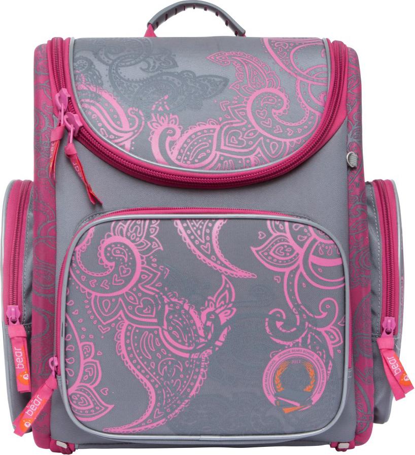 Orange Bear Рюкзак школьный Classic цвет розовый серый S-16/2 пенал школьный феникс серый 20 10см силикон застеж молния объемный 3d дизайн 40235