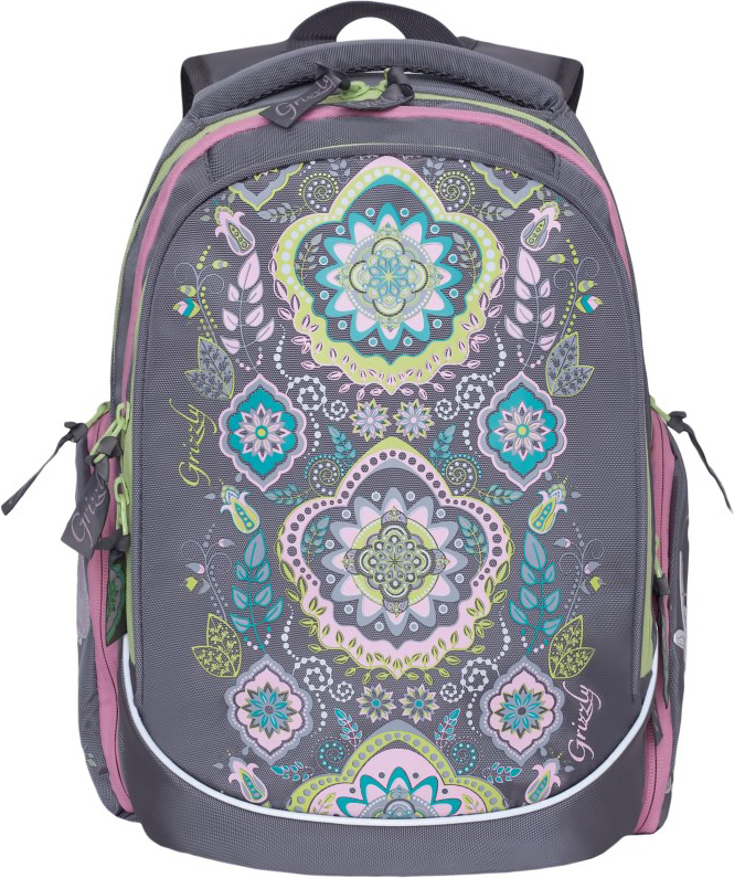 Grizzly Рюкзак школьный цвет серый RG-867-2/4 рюкзак grizzly rg 867 2 2 fuchsia
