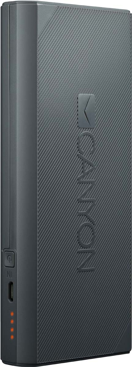 Canyon CNE-CPBF100DG, Dark Grey внешний аккумулятор (10000 мАч)