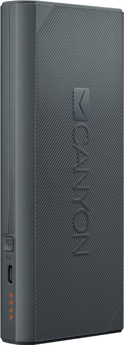 Фото - Canyon CNE-CPBF130DG, Dark Grey внешний аккумулятор (13000 мАч) внешний аккумулятор для портативных устройств hiper circle 500 blue circle500blue