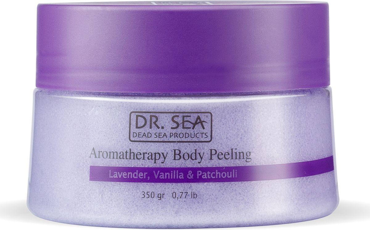 Dr.sea Ароматический пилинг для тела с маслами лаванды, ванили и пачули, 320 г dr sea соль мертвого моря с лепестками роз 500 г