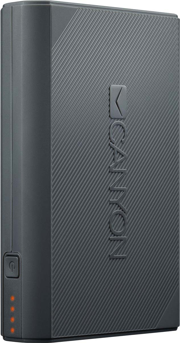 Canyon CNE-CPBF78DG, Dark Grey внешний аккумулятор (7800 мАч) 2600mah power bank usb блок батарей 2 0 порты usb литий полимерный аккумулятор внешний аккумулятор для смартфонов светло зеленый