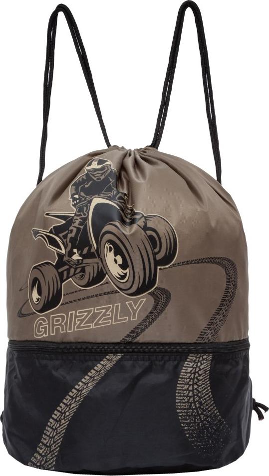 Grizzly Мешок для обуви цвет коричневый OM-847-1/3