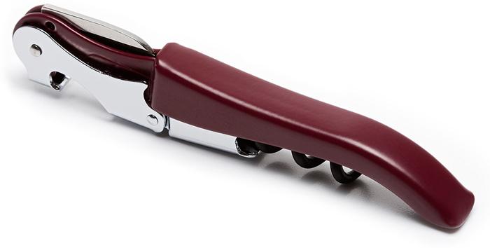 """Обновленная версия популярного штопора AC испанского бренда Koala! Теперь за те же деньги вы получите штопор и держатель на ремень!  Универсальный механический штопор AC """"3 в 1"""" бордового цвета выполнен из металла и тефлона. Выполняет функции ножа для срезания фольги, открывалки для бутылок и ввинчивающегося штопора. Универсальное решение для домашнего и профессионального использования. Для полного комплекта производитель добавил к товару специальный держатель на ремень, который надежно защитит штопор и позволит носить его на поясе.  Конкурентные особенности: • Ручка имеет удобную форму, обеспечивается комфортный хват • Открывалка подходит для разных типов крышек • Спираль с тефлоновым покрытием для открывания винных бутылок хорошо скользит внутри пробки, предохраняет ее от разлома • Зубчатый нож обеспечивает четкое срезание фольги • Запатентованная технология """"умной головки"""" с двухступенчатой пружинной опорой для легкого открывания бутылок • При использовании такого девайса прикладывается минимум усилий   Штопор легко складывается, его удобно брать в дорогу. Оцените все эти и другие его конкурентные плюсы, совершив покупку!"""