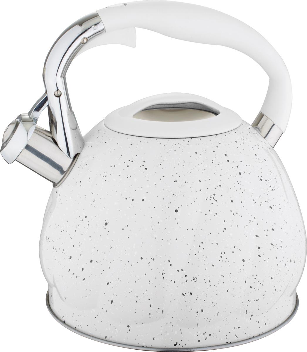 Чайник Rainstahl, со свистком, цвет: белый, 3 л riess чайник со свистком pastell 2 л 0543 015 rosa riess