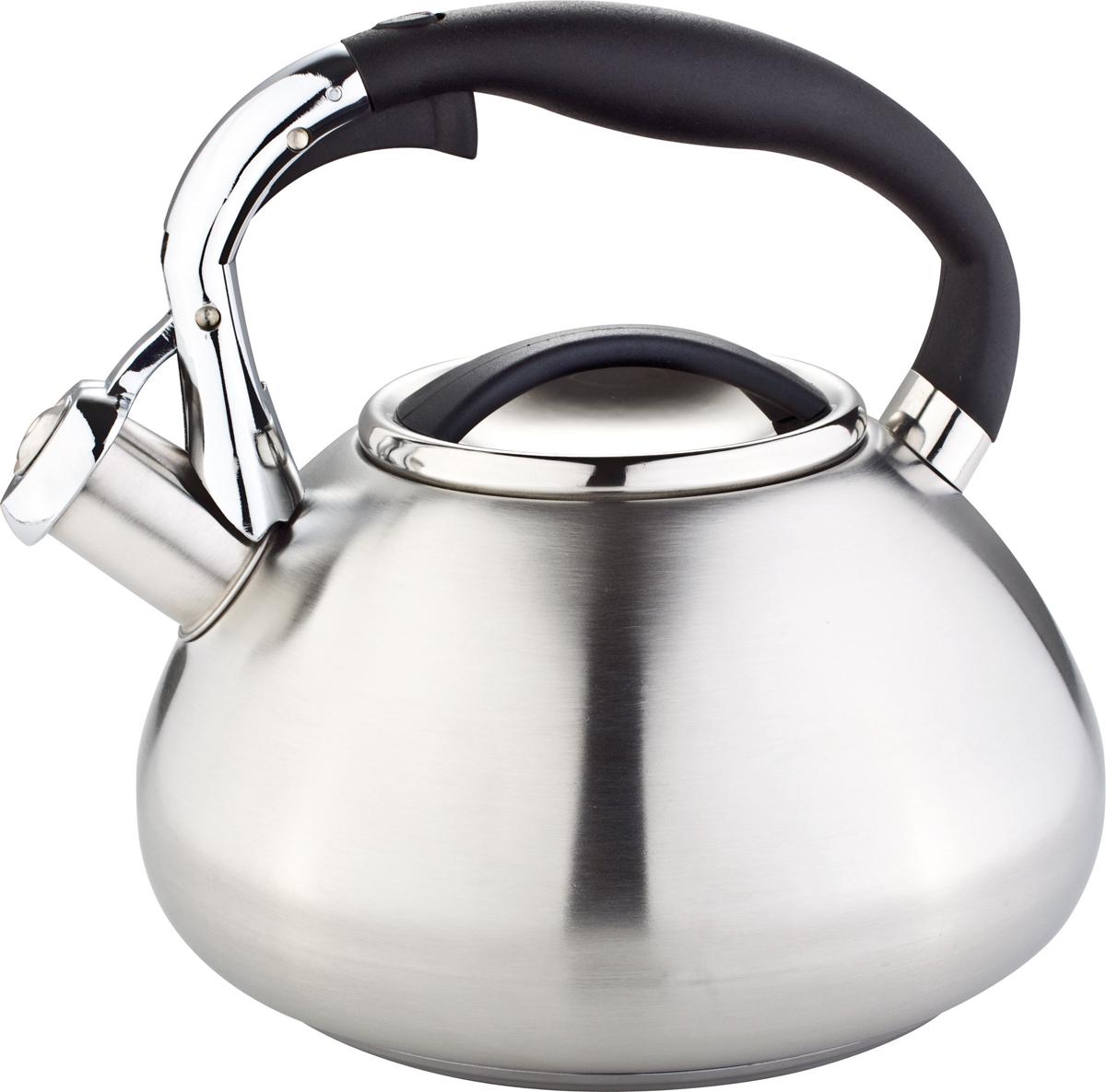 Чайник Rainstahl, со свистком, цвет: серебристый, 3 л. 7602-30RS\WK