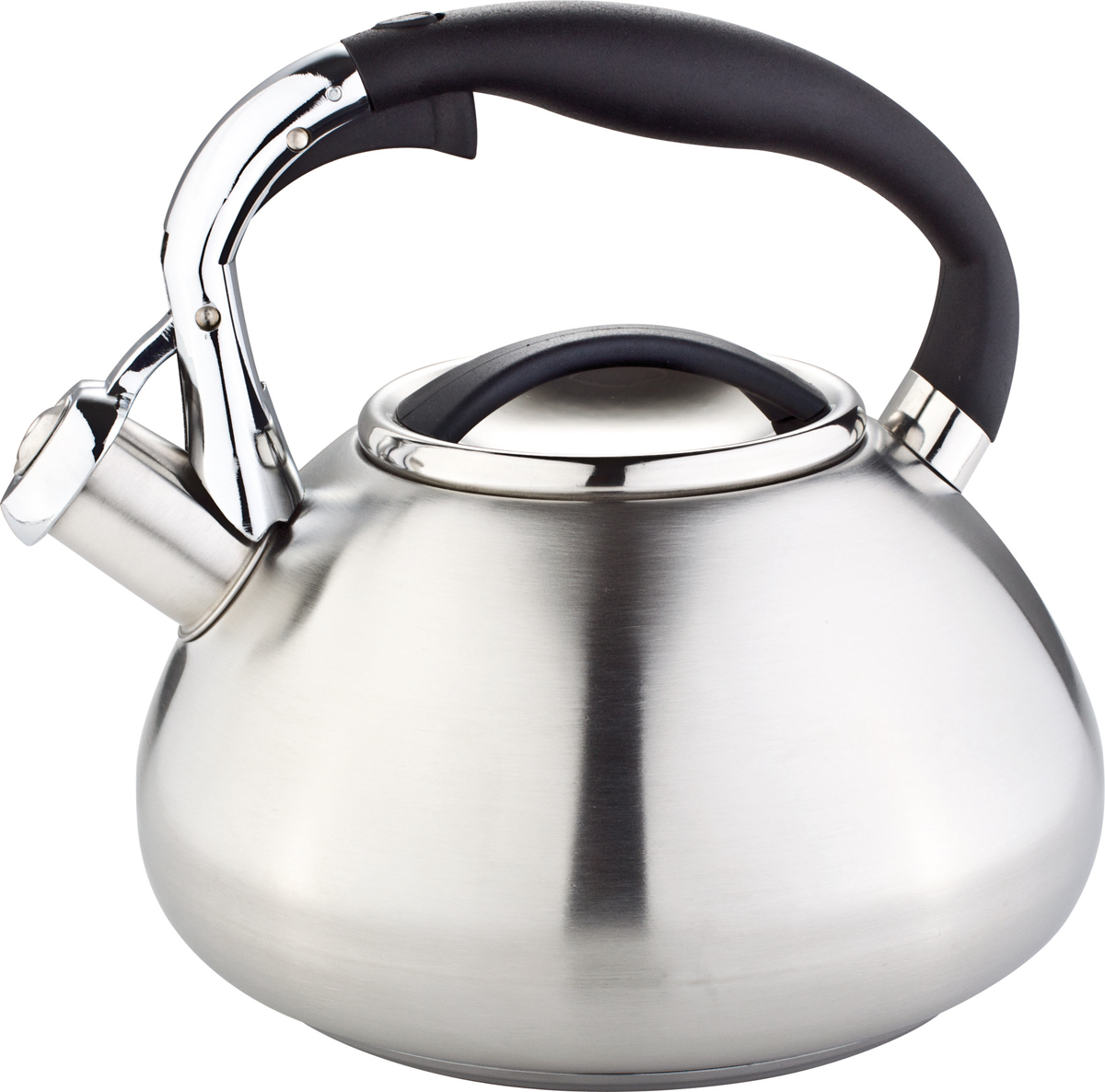 Чайник Rainstahl, со свистком, цвет: серебристый, 3 л. 7602-30RS\WK riess чайник со свистком pastell 2 л 0543 015 rosa riess