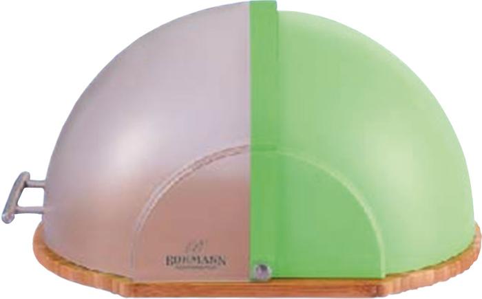 Материал: дерево/пластик. Удобная деревянная доска для резки хлеба. Крышка-дверца из прозрачного пластика. Экологически чистые материалы. Ручка из нержавеющей стали. Размеры: 37х26х27,5 см. Цвет: зеленый.