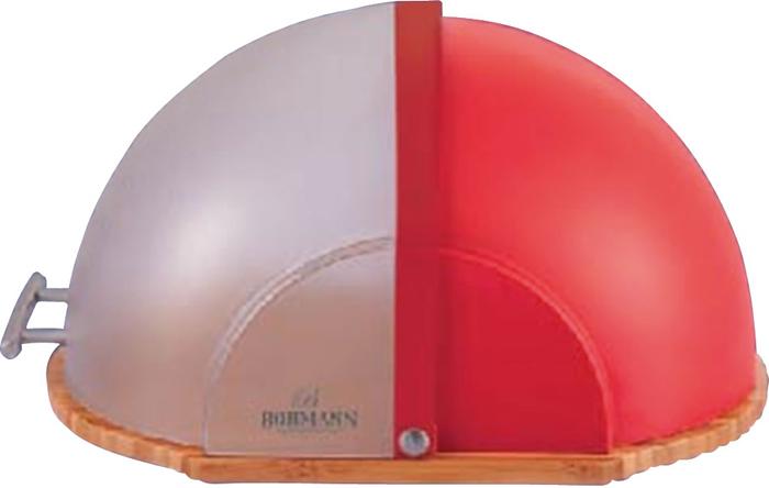 Материал: дерево/пластик. Удобная деревянная доска для резки хлеба.Крышка-дверца из прозрачного пластика. Экологически чистые материалы. Ручка из нержавеющей стали. Размеры: 37х26х27,5 см. Цвет: красный.