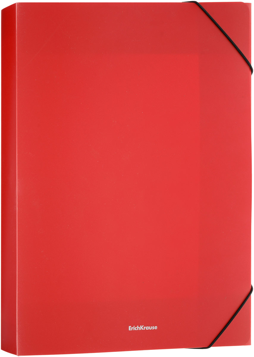 Erich Krause Classic Папка на резинке цвет красный формат A4+ 43101 erich krause папка на 4 х кольцах classic 24 мм формат а4 цвет черный