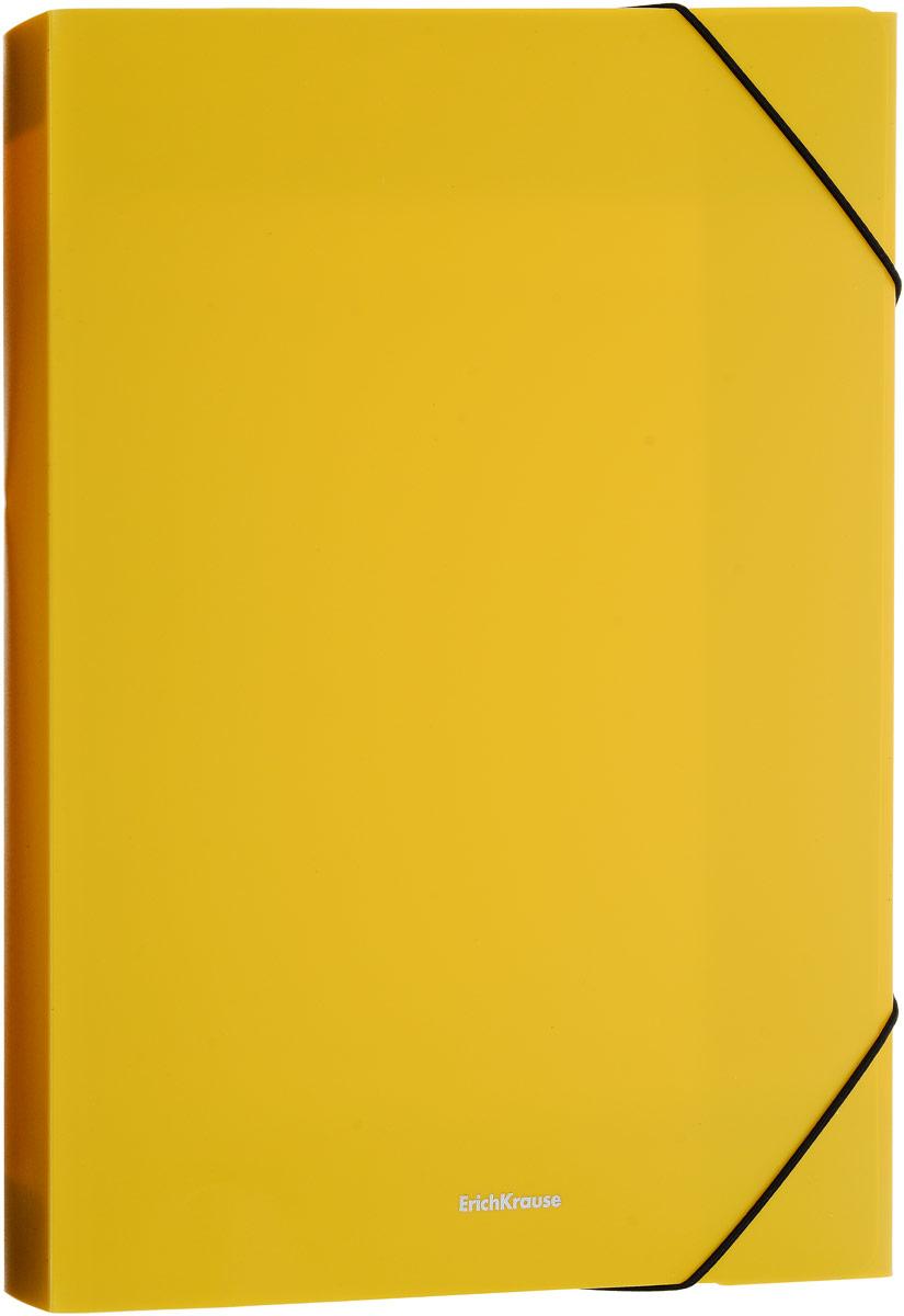Erich Krause Classic Папка на резинке цвет желтый формат A4+ 43102 erich krause папка на 4 х кольцах classic 24 мм формат а4 цвет черный