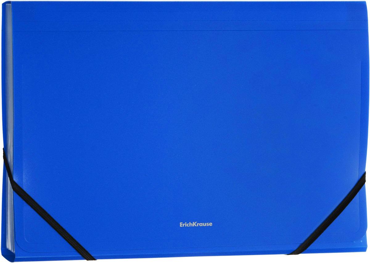 Erich Krause Classic Папка на резинке цвет синий формат A4+ 43040