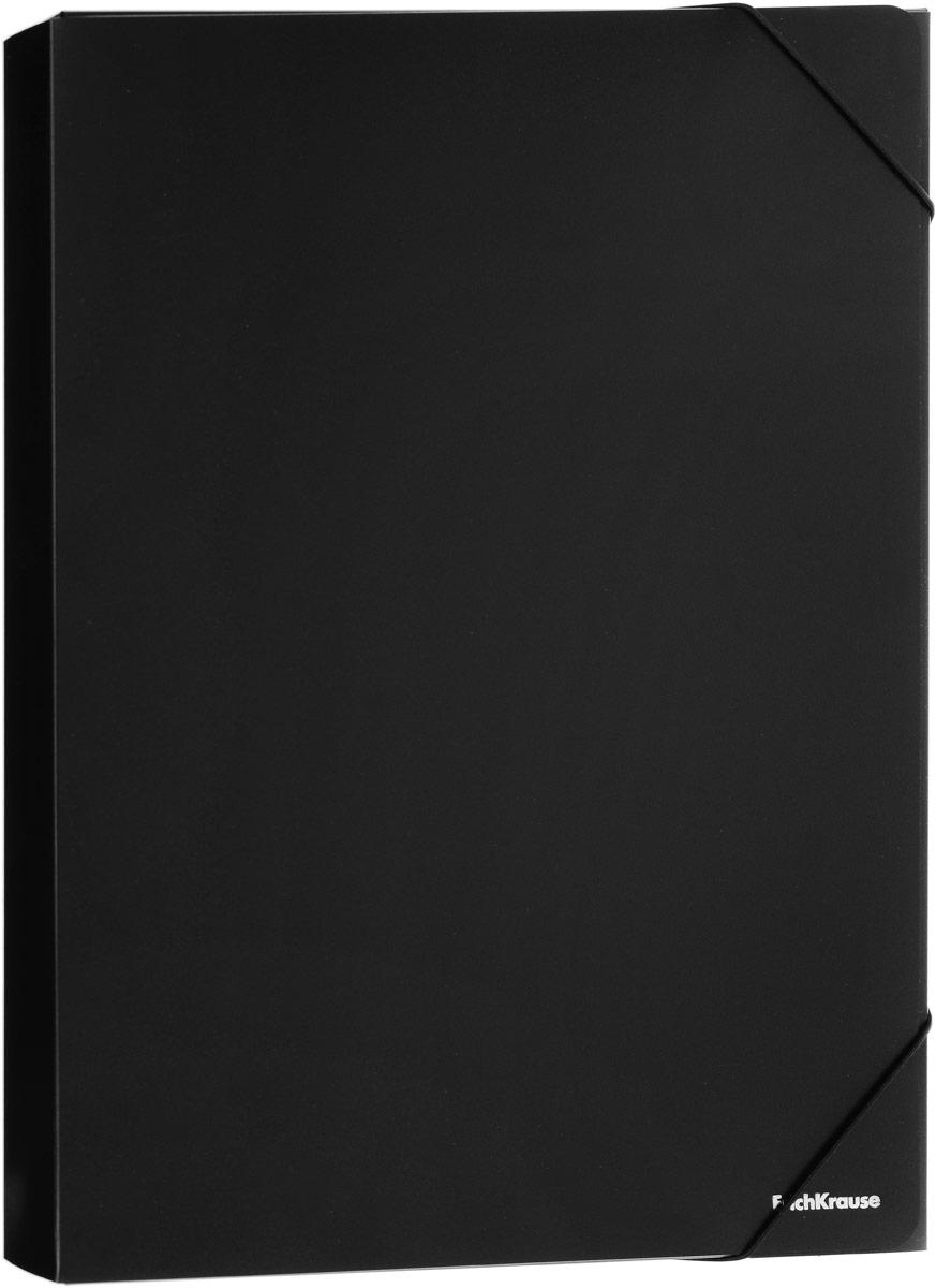 Erich Krause Classic Папка на резинке цвет черный формат A4+ 43098 erich krause папка на 4 х кольцах classic 24 мм формат а4 цвет черный