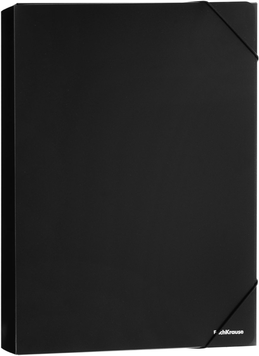 Erich Krause Classic Папка на резинке цвет черный формат A4+ 43098 папка на резинке proff next ширина корешка 40 мм цвет синий формат а4