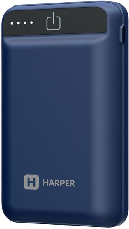 Harper PB-2612, Blue внешний аккумулятор (12000 мАч) внешний аккумулятор qumo poweraid camper 4000 ма ч выход 5в 2 1а вход 5в 2а солнечная панель 900 ма