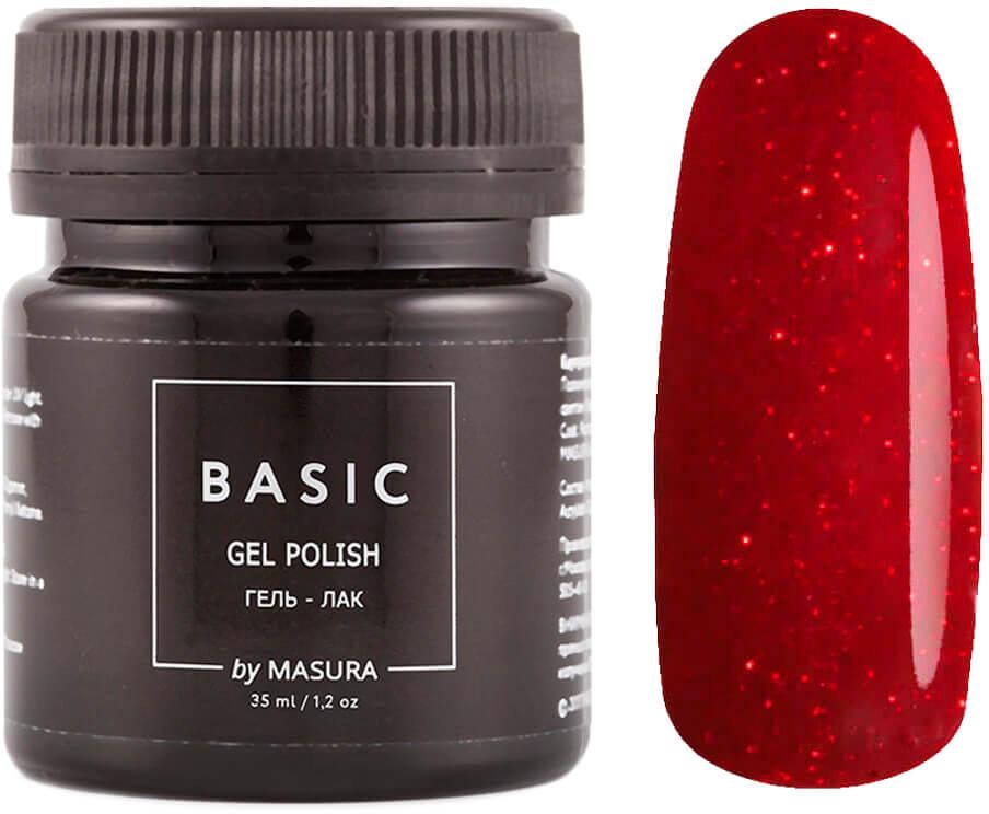 Masura Гель-лак Basic Алая Органза, 35 мл masura гель лак basic 294 218м ягодный блеск для губ