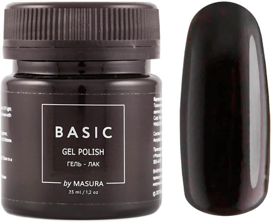 Masura Гель-лак Basic Черный Кобальт, 35 мл masura гель лак basic 294 218м ягодный блеск для губ