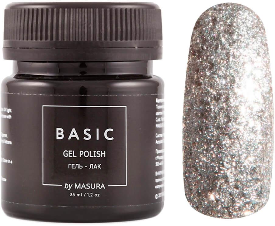 Masura Гель-лак Basic Алмазная Крошка, 35 мл masura гель лак basic 294 218м ягодный блеск для губ