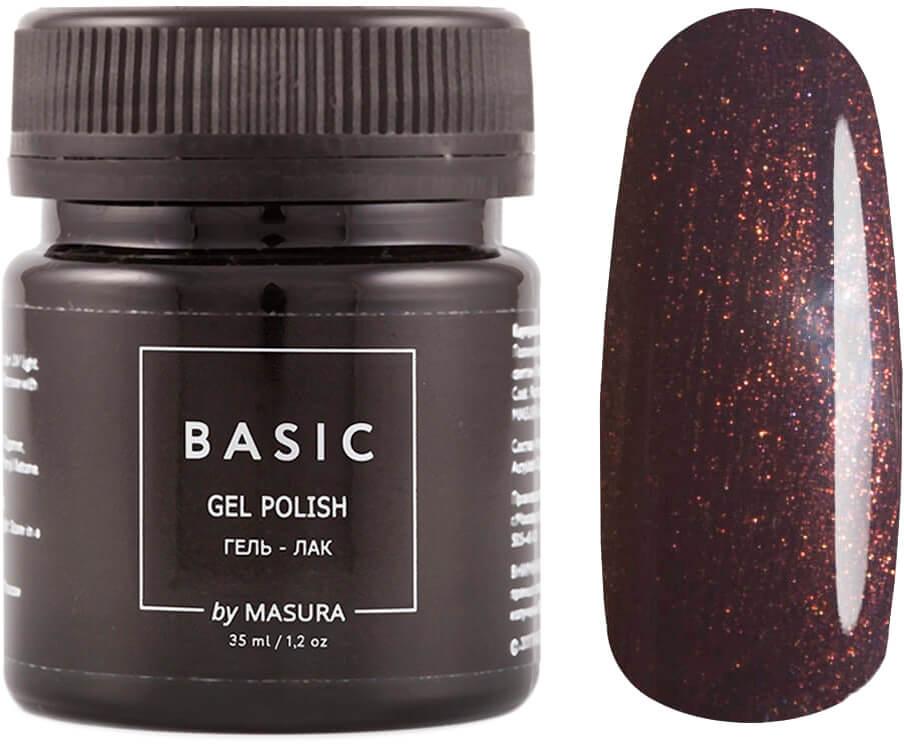 Masura Гель-лак Basic Императорский Шоколад, 35 мл masura гель лак basic 294 218м ягодный блеск для губ