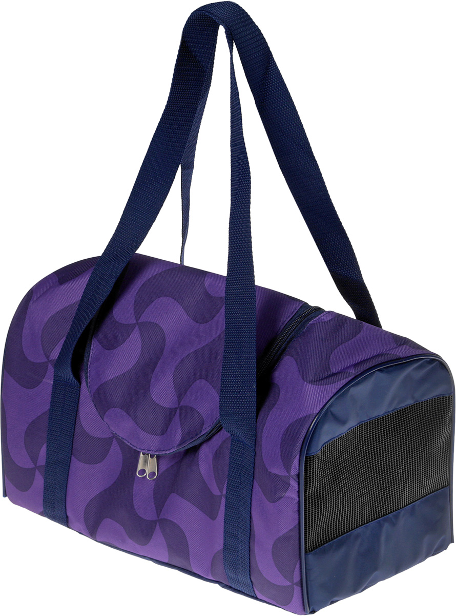 """Сумка-переноска для животных """"Теремок"""", цвет: фиолетовый, 38 х 20 х 22 см"""