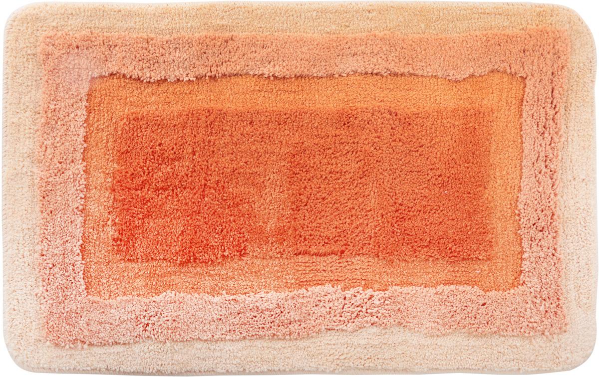 Коврик для ванной Wess Belorr, цвет: персиковый, 50 х 80 см