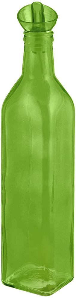 """Емкость """"Herevin"""", выполненная из цветного стекла, позволит украсить любую кухню, внеся разнообразие, как в строгий классический стиль, так и в современный кухонный интерьер. Она легка в использовании, стоит только перевернуть ее, и вы с легкостью сможете добавить оливковое, подсолнечное масло, уксус или соус. Емкость оснащена пластиковой пробкой с дозатором. Благодаря этому внутри сохраняется герметичность, и масло дольше остается свежим. Оригинальная, квадратная емкость для масла и уксуса будет отлично смотреться на вашей кухне. Объем: 500 мл. Диаметр (по верхнему краю): 2,5 см. Размер основания: 6 см х 6 см. Высота емкости (без учета крышки): 24 см."""