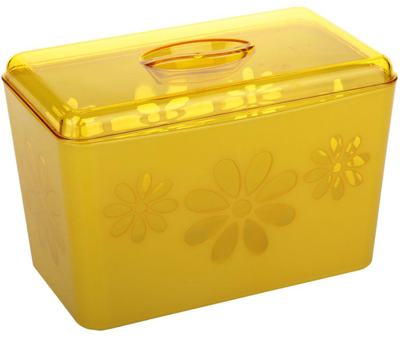Хлебница Альтернатива Соблазн, цвет: желтый, 24 см х 14 см х 14,5 см сахарница альтернатива соблазн с крышкой цвет зеленый 600 мл