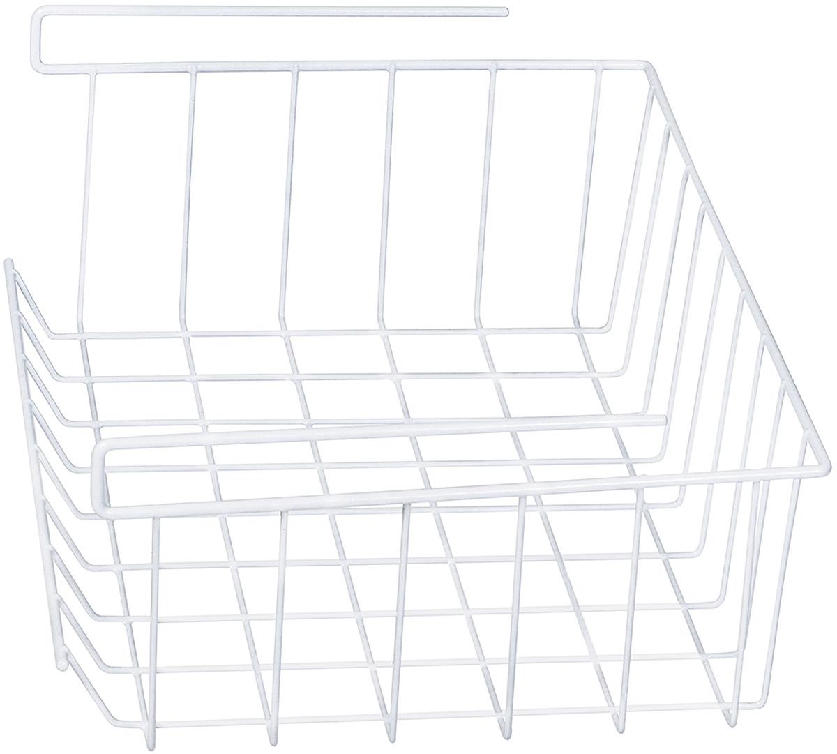 Art moon EXTRA Корзина подвесная на полку, L40xH14xD26.5 cm, Удобная корзина, обеспечивает дополнительное пространство для хранения. Универсальная: для туалетных принадлежностей, посуды, канцтоваров, фруктов, одежды и нижнего белья. Легкий доступ к вещам. Материал: Cталь с виниловым покрытием.
