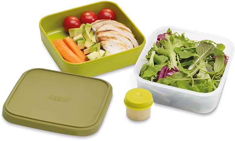 Ланч-бокс для салатов Joseph Joseph GoEat, цвет: зеленый. 81029 ланчбокс goeat зеленый