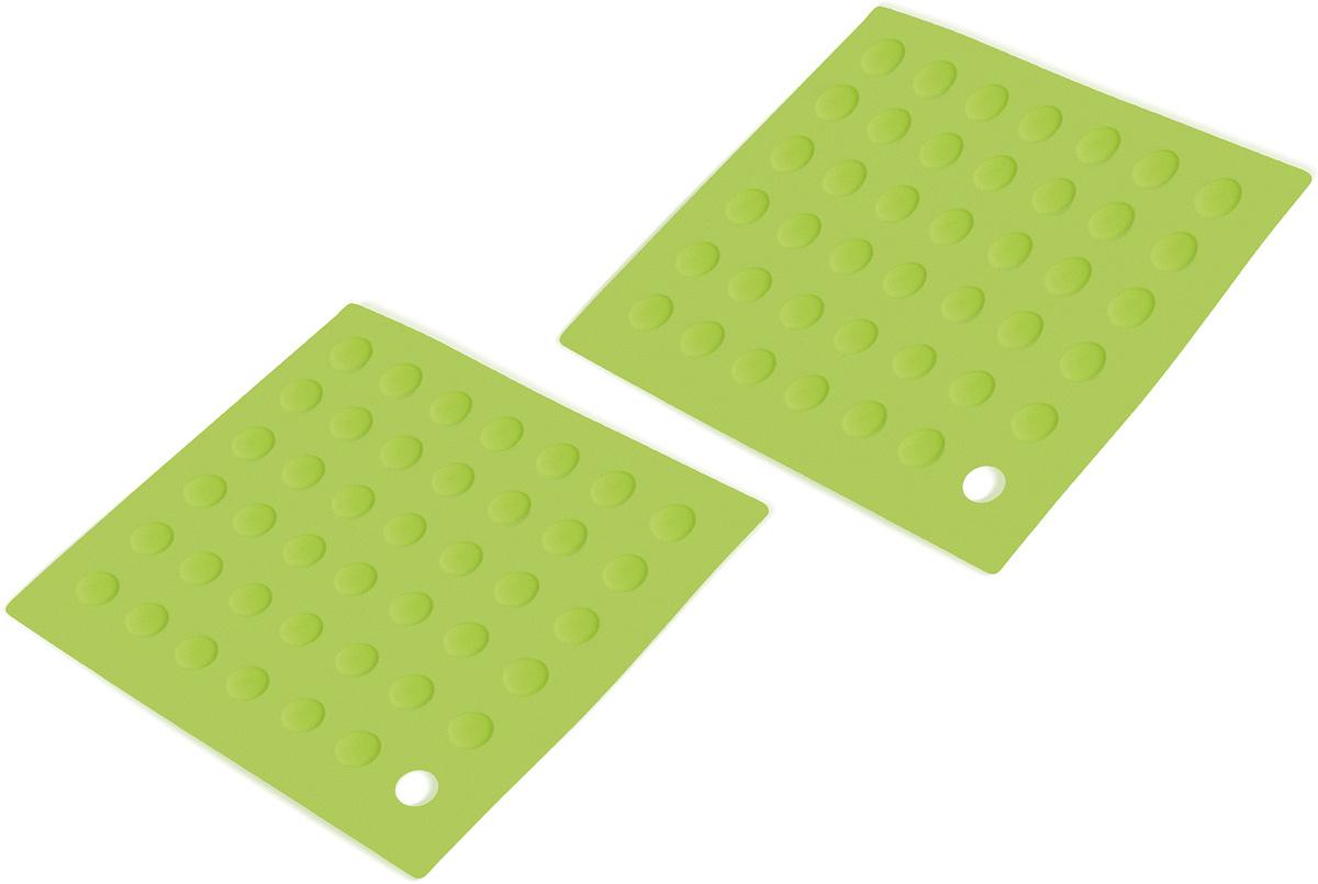 Wonder Worker PUT Силиконовая прихватка, 2 шт., L18.8xH0.3xD18.8 cm, Гибкая и приятная на ощупь, высокая термостойкость - до 260° C. Материал: силикон