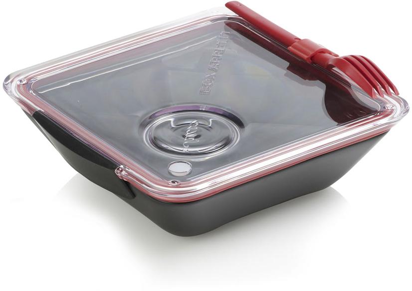 Ланч-бокс Black+Blum Box Appetit, цвет: черный, красный, 19 х 20 см black blum ланч бокс lunch pot лайм 11х19 см bp001 black blum