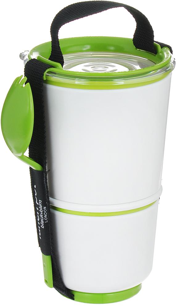 Ланч-бокс Black+Blum Lunch Pot, цвет: белый, зеленый, высота 19 см black blum ланч бокс lunch pot лайм 11х19 см bp001 black blum