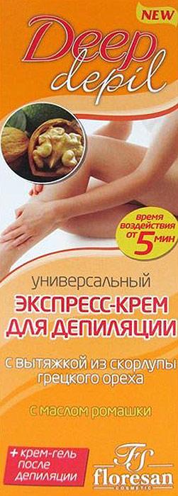Floresan Экспресс-крем для депиляции универсал, 100 мл для волос floresan